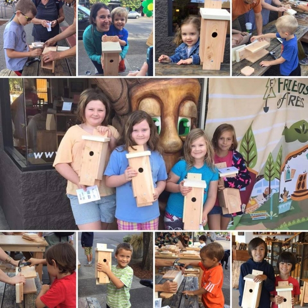 The Joinery builds birdhouses for Woodstock Gives Back