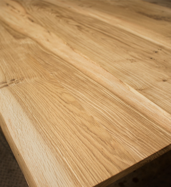 Live-Edge Oregon White Oak Dining Table Detail