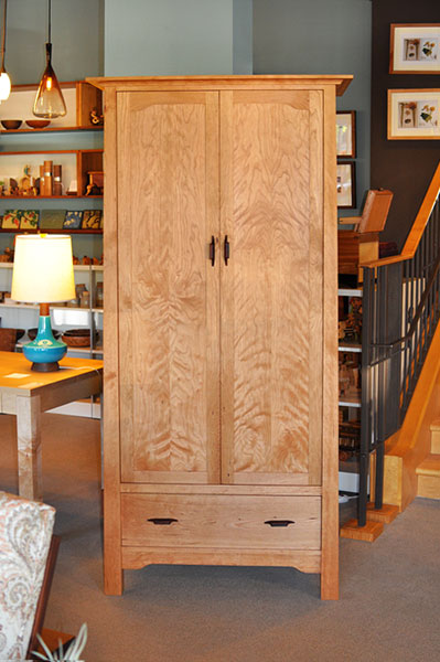 Pacific Armoire in Cherry with Rosewood Yoshinaga pulls