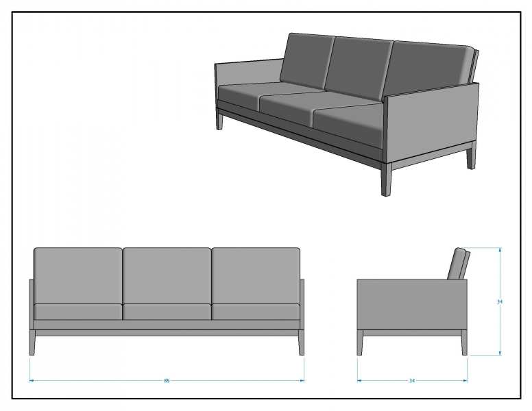 Original Design for Clyde Sofa