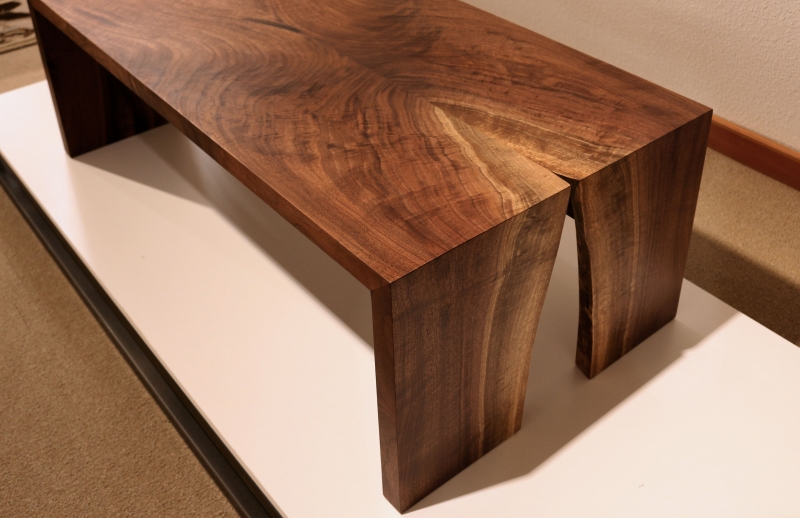 Miter Wrap Live Edge Coffee Table