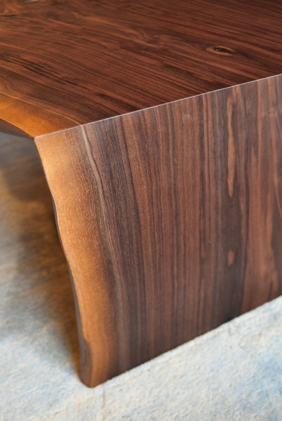 Live Edge Walnut Coffee Table detail