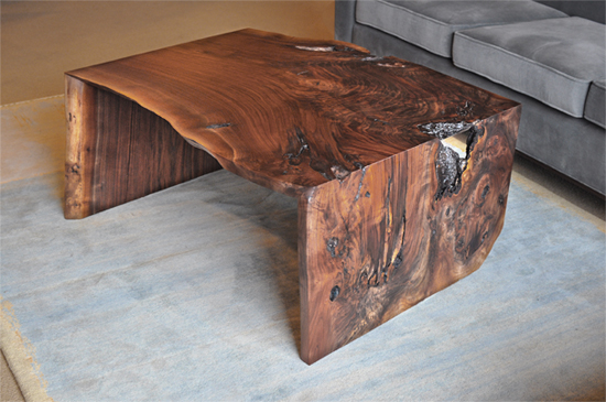 Miter Wrap Coffee Table In Western Walnut The Joinery