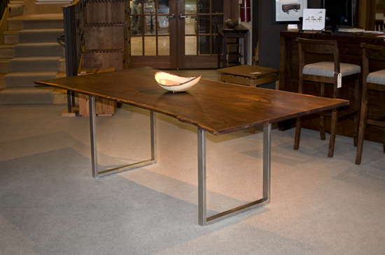 Live Edge Dining Table With Metal Loop Base The Joinery