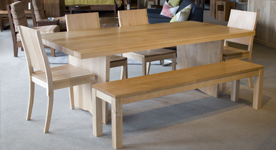 custom maple dining table the joinery. Black Bedroom Furniture Sets. Home Design Ideas