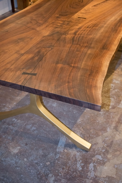 Live Edge Table with INGOT base