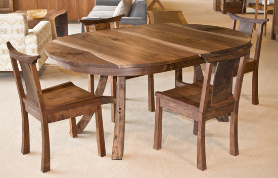 Kyoto Dining Table The Joinery Portland Oregon : DT4Dining20Table20walnut20showroom20better2002231320DR from www.thejoinery.com size 550 x 352 jpeg 196kB