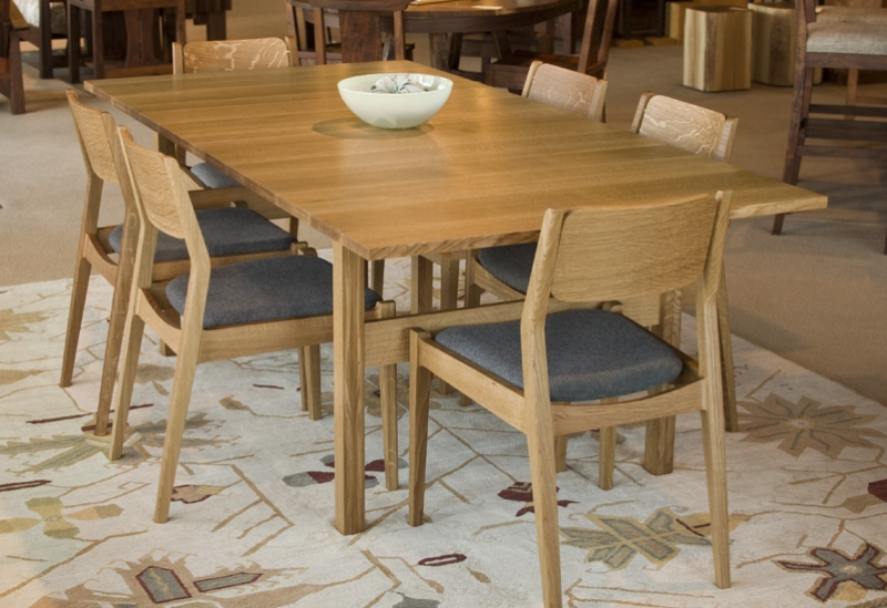 Celilo Dining Table And Whitman Chairs. Whitman Chair In Quartered White Oak