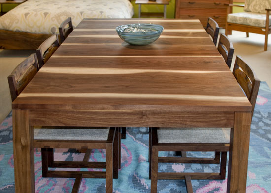 Studio Extention Dining Table in Eastern Walnut