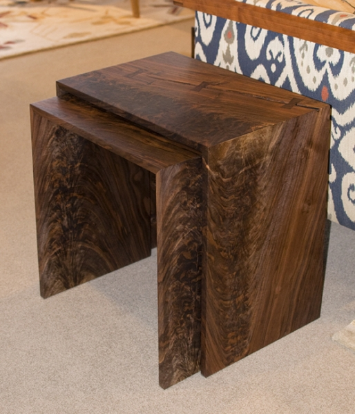 Western Walnut Nesting Tables