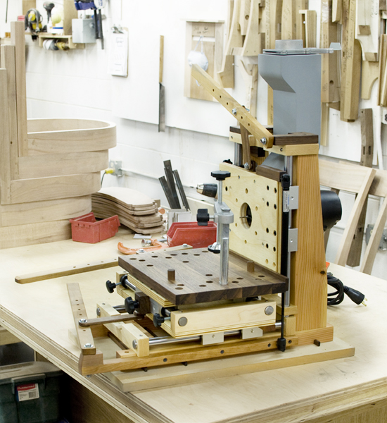Home made multi router the joinery portland oregon for Home built router