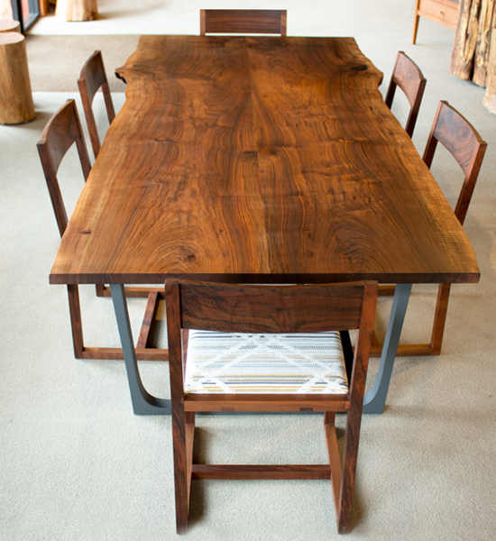 Live-Edge Dining Table in Stock