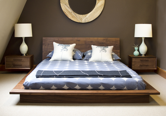 Modern Wall Hung Nightstands The Joinery Portland Oregon