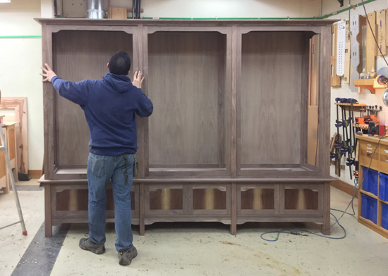 Handcrafted Wood Cabinet in Oregon