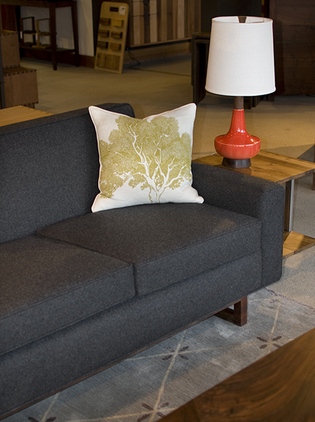 Metro Sofa in Grey Wool