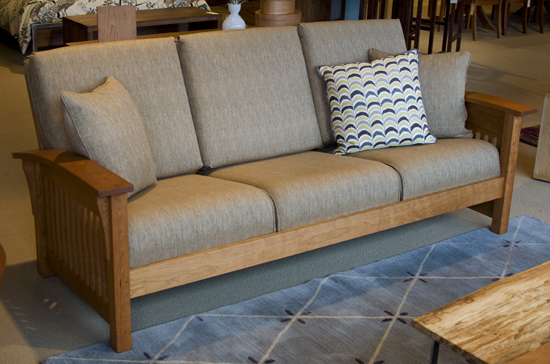 Morris Sofa with Papyrus fabric The Joinery