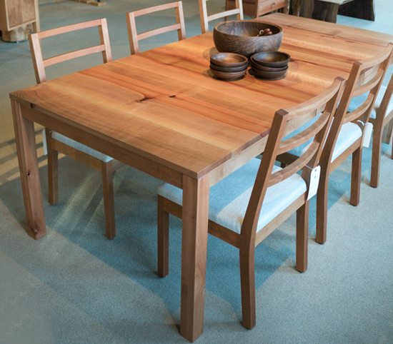 Studio Extenstion Dining Table in Madrone