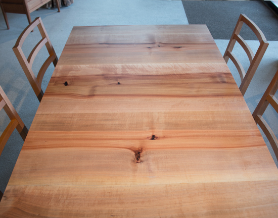 Studio Extenstion Dining Table Top Detail in Madrone