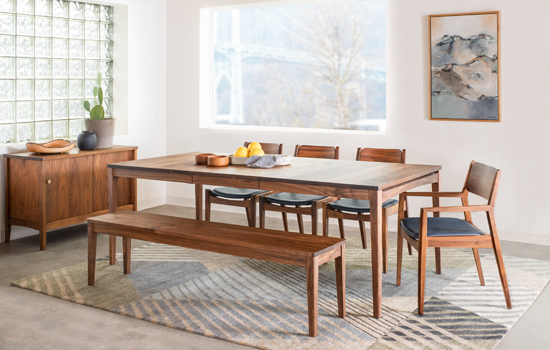 Whitman Extension Dining Table Vignette