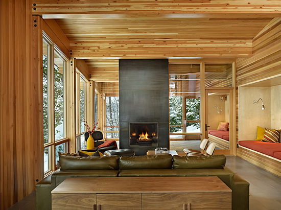 Wenatchee Cabin Living Room