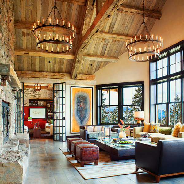 Spaces we love montana ranch home the joinery for Mountain home designs ideas