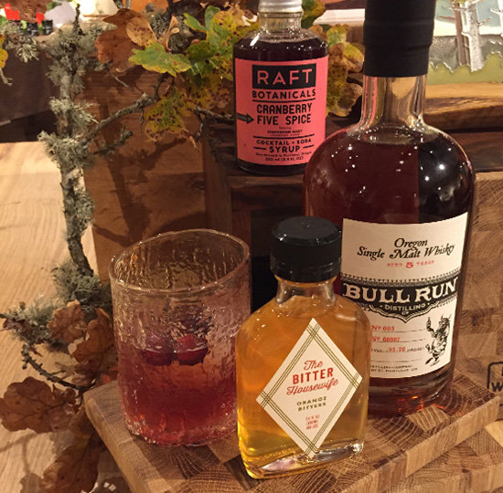 Cocktail with Bull Run Distillery