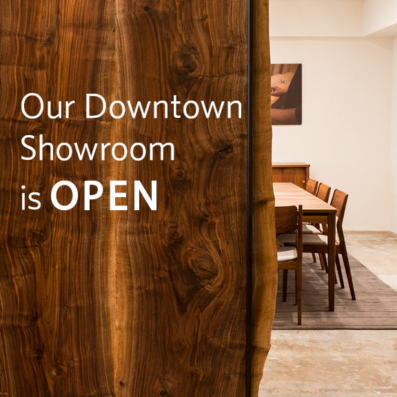 Our downtown showroom is open