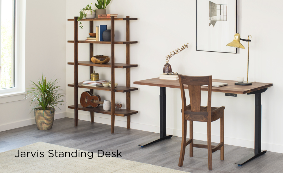 Jarvis Sit to Stand Desk in Eastern Walnut