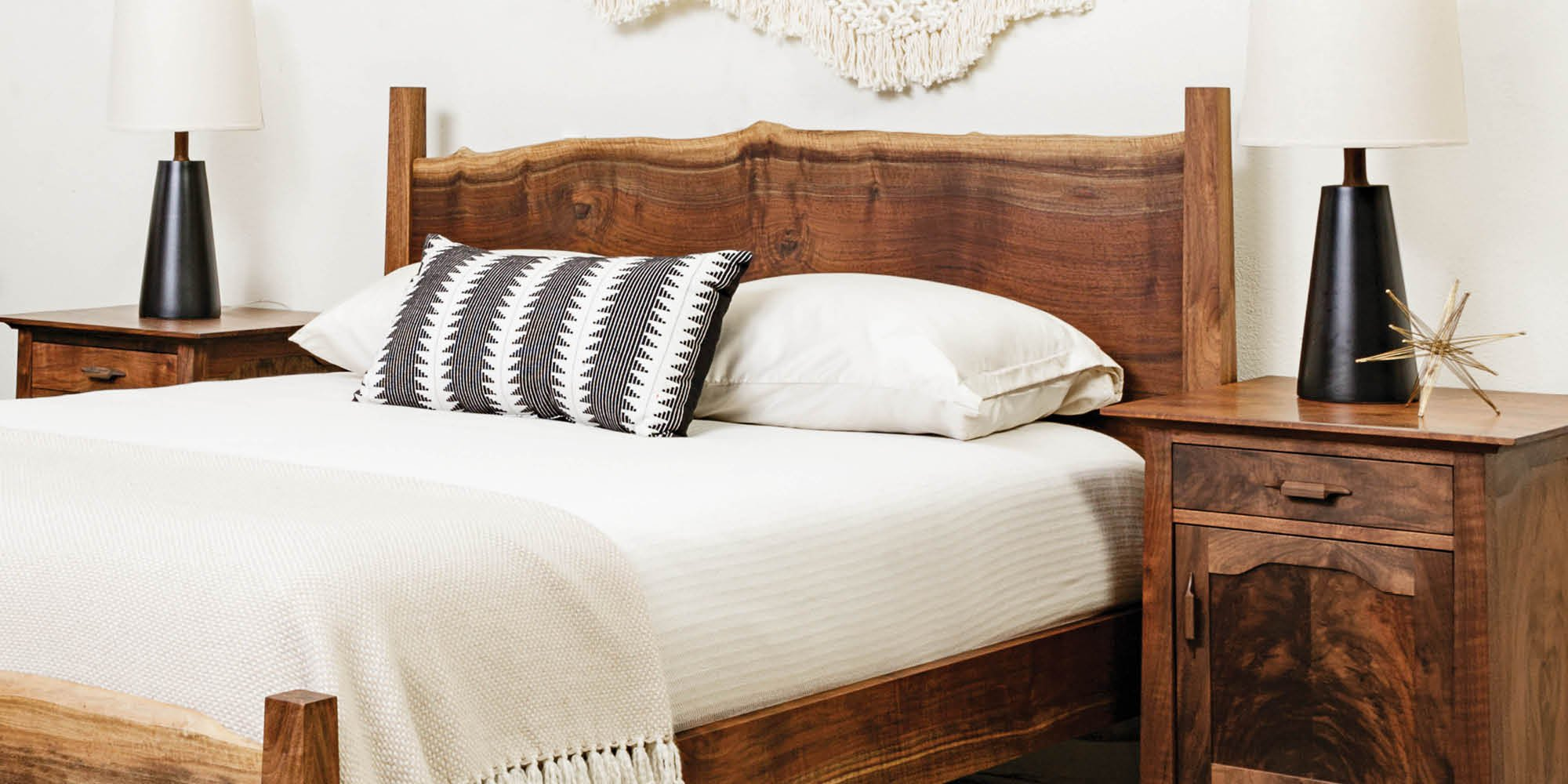 Live-edge Bed made in Oregon