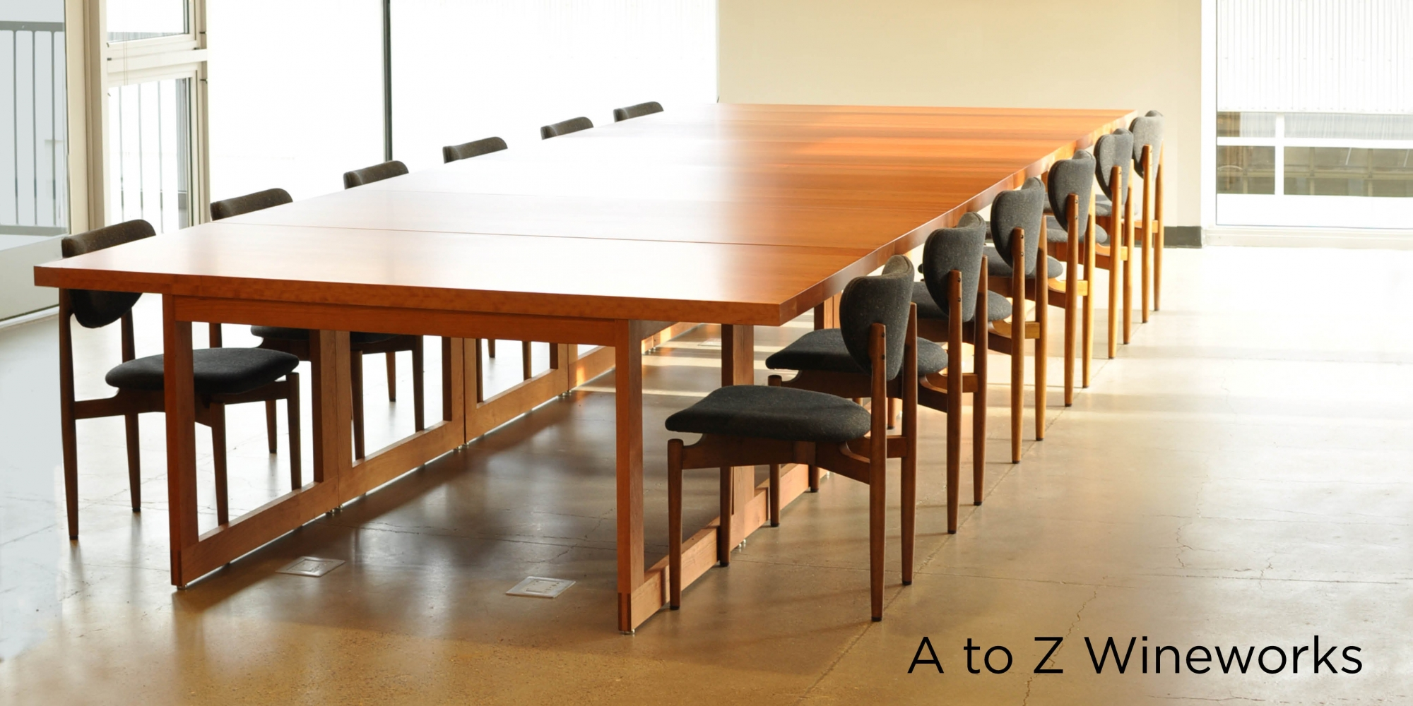 A to Z Winework Custom Conference Table