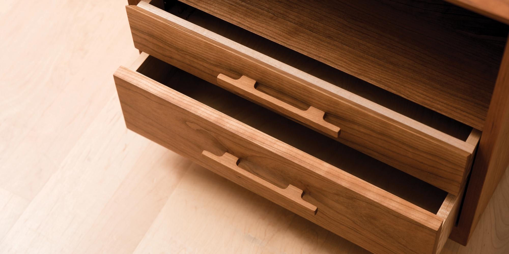 Modern Nightstand Detail In Cherry Handcrafted By The Joinery