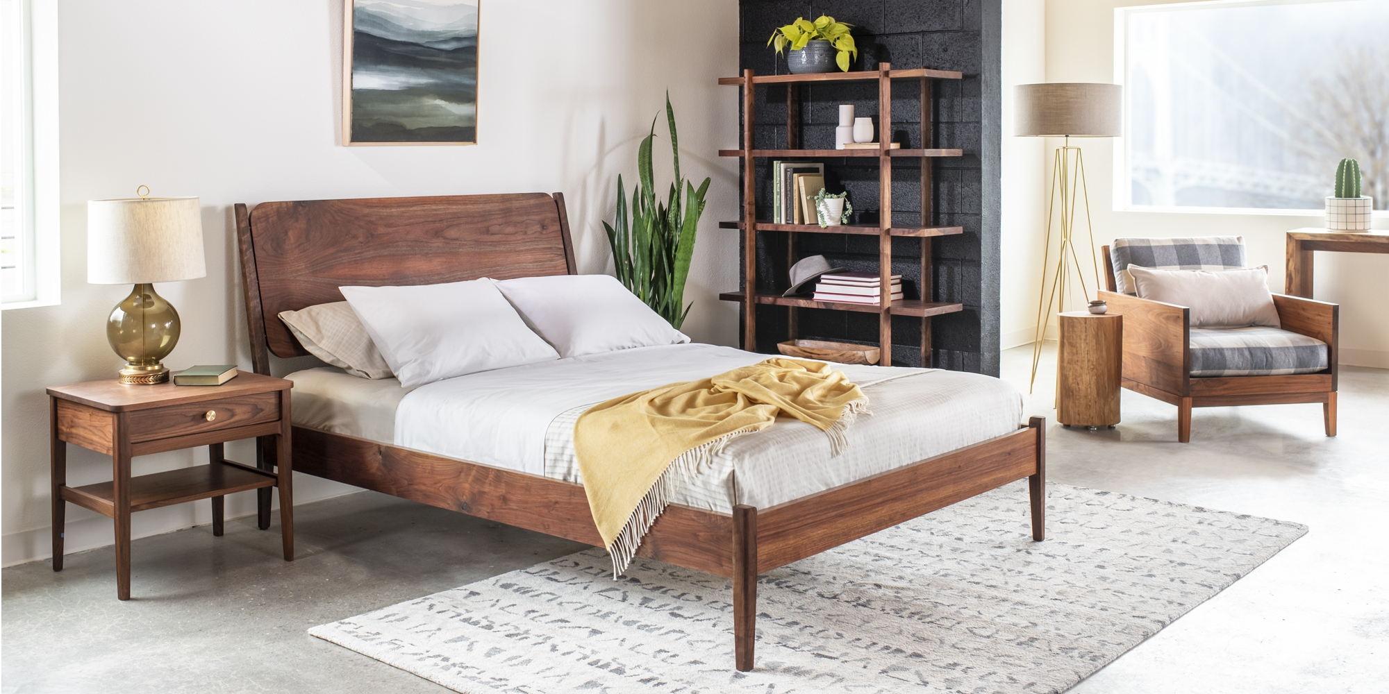 Whitman Bedroom vignette by The Joinery