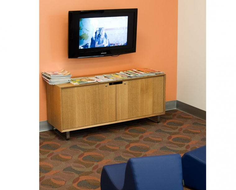 Media Cabinet in Quartered White Oak for Randall Children's Hospital