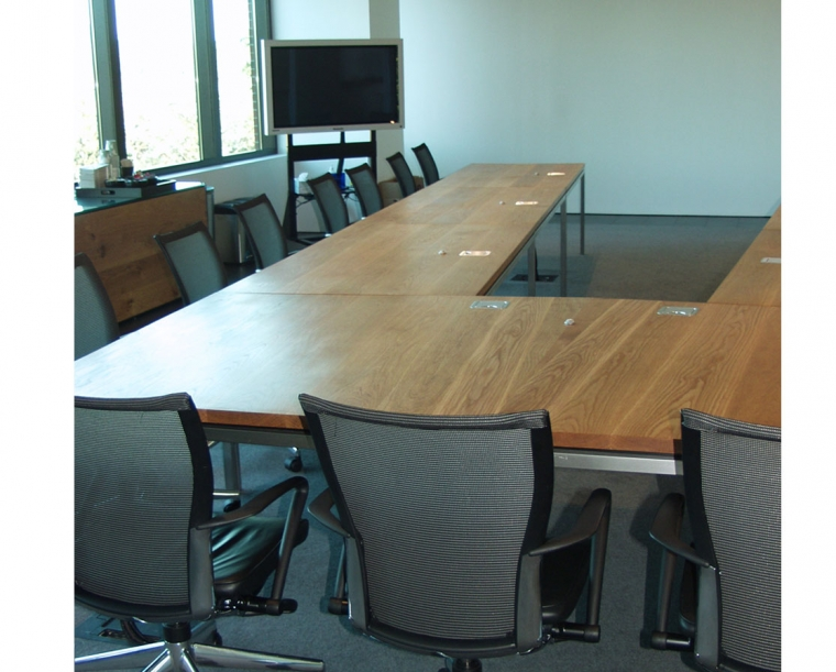 Autodesk Conference table made from Flat Sawn White Oak