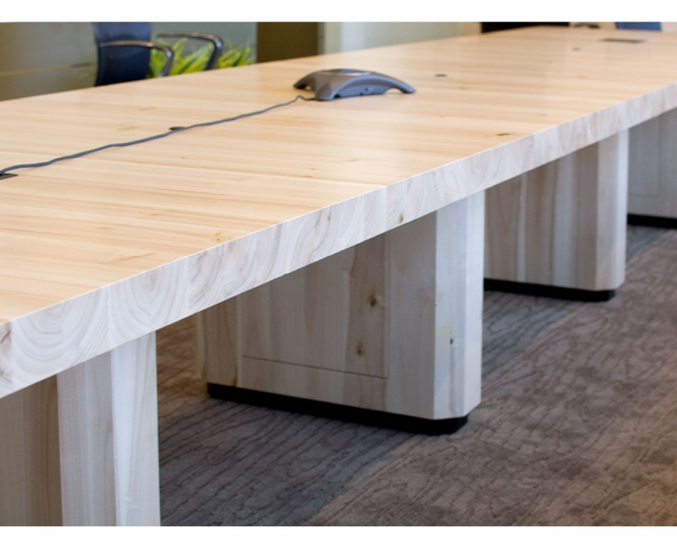 Detail of Data Storage below Conference Table made from Pacific Albus
