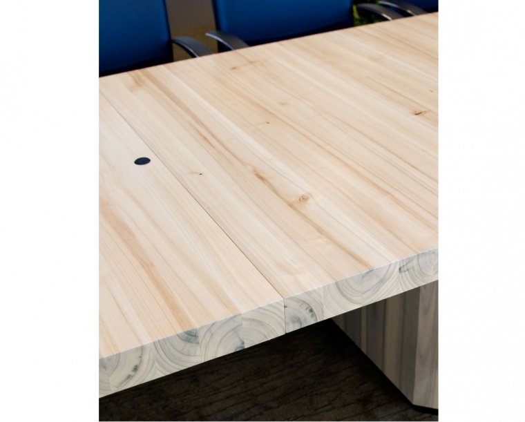 Top Detail of Conference Table made from Pacific Albus