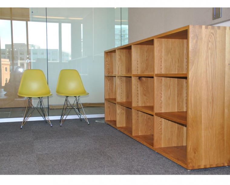 ZGF Flat Sawn White Oak Bookcases