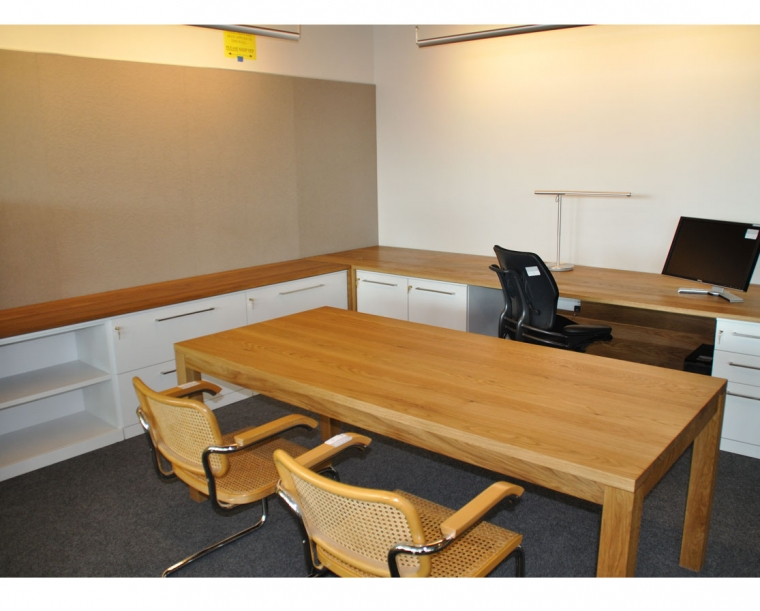 ZGF Flat Sawn White Oak Partner Offices