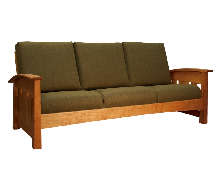 Pacific Couch in Cherry with COM Fabric