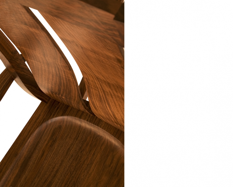 Leon's Rocker in Western Walnut, Detail