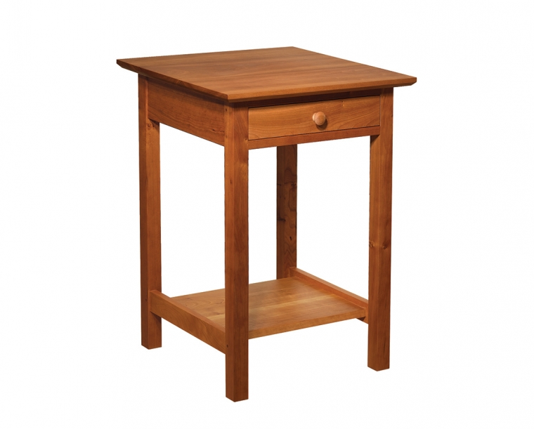 Shaker Nightstand in Cherry with Shaker Knob