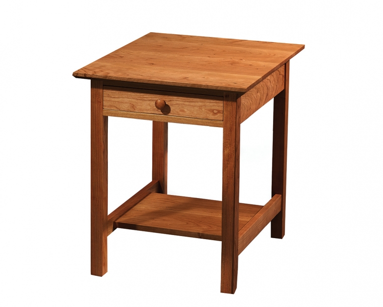 Shaker End Table in Cherry with Shaker Top Edge Detail and Shaker Knob