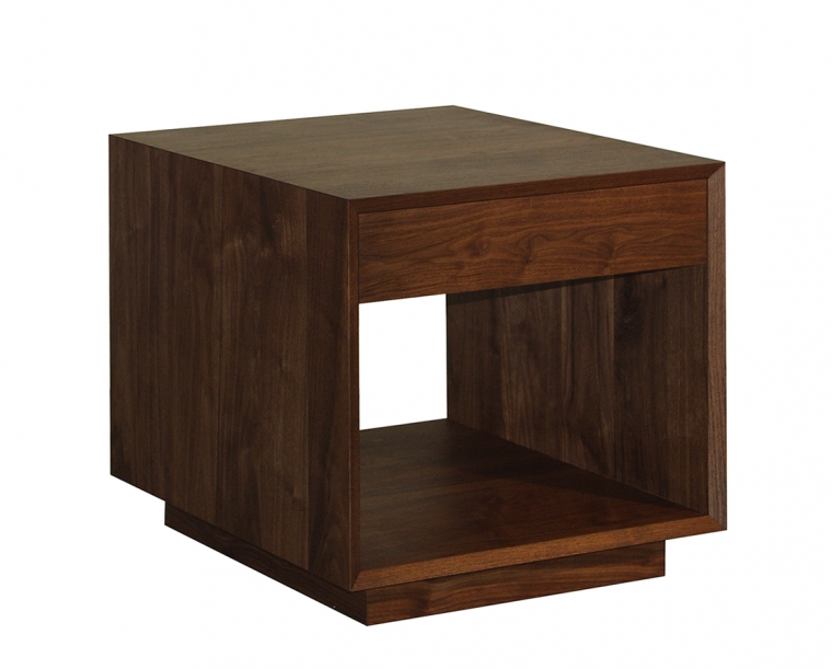 Modern End Table in Standard Eastern Walnut