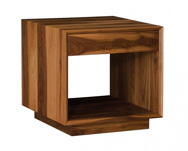 Modern End Table in Sappy Eastern Walnut