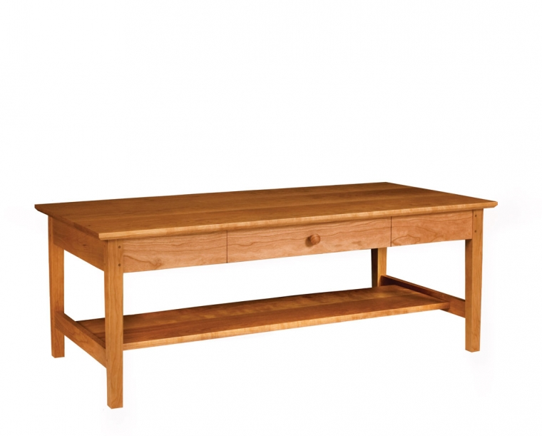 Ordinaire Shaker Coffee Table In Cherry With Shaker Knob
