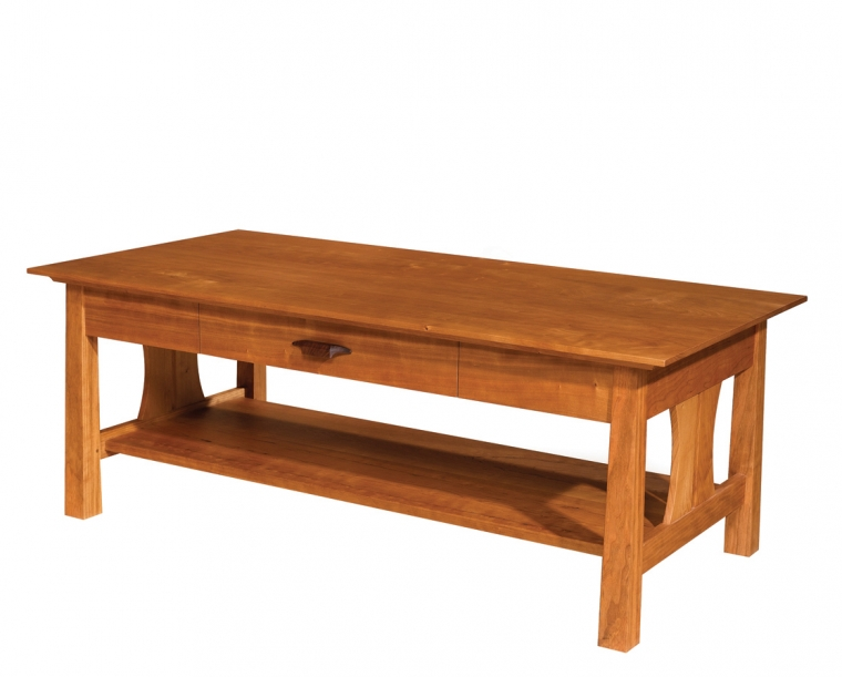 Pacific Coffee Table in Cherry with Rosewood Yoshinaga Pull