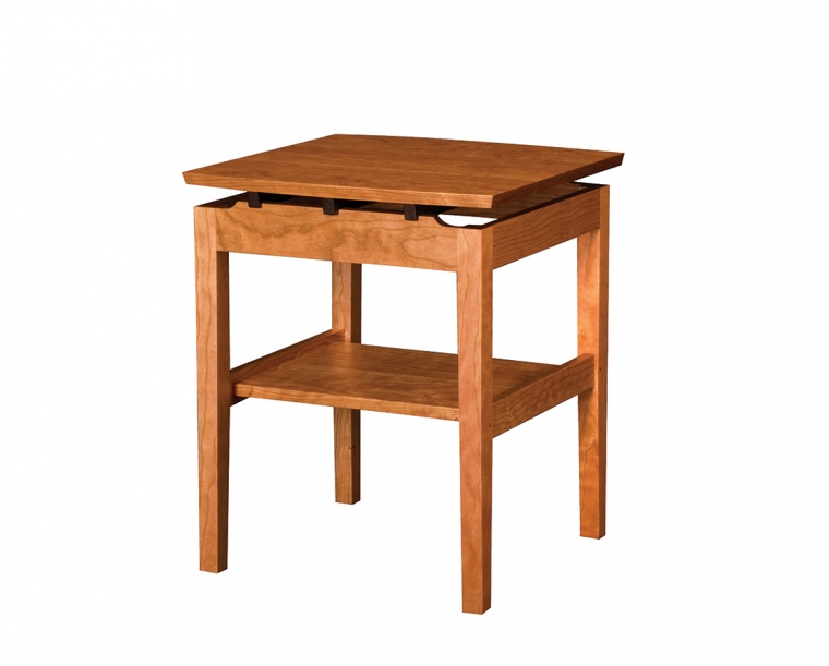 Hochberg End Table Small in Cherry with Western Walnut Risers