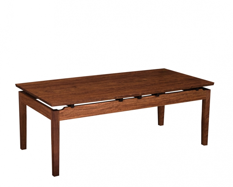 Hochberg Coffee Table in Western Walnut with Western Walnut risers