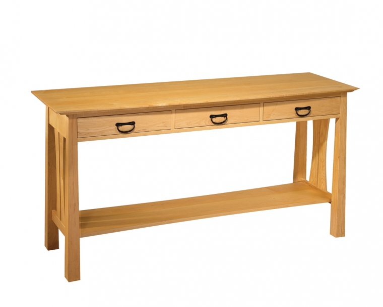Pacific Entry Table in Maple with Tansu Pulls