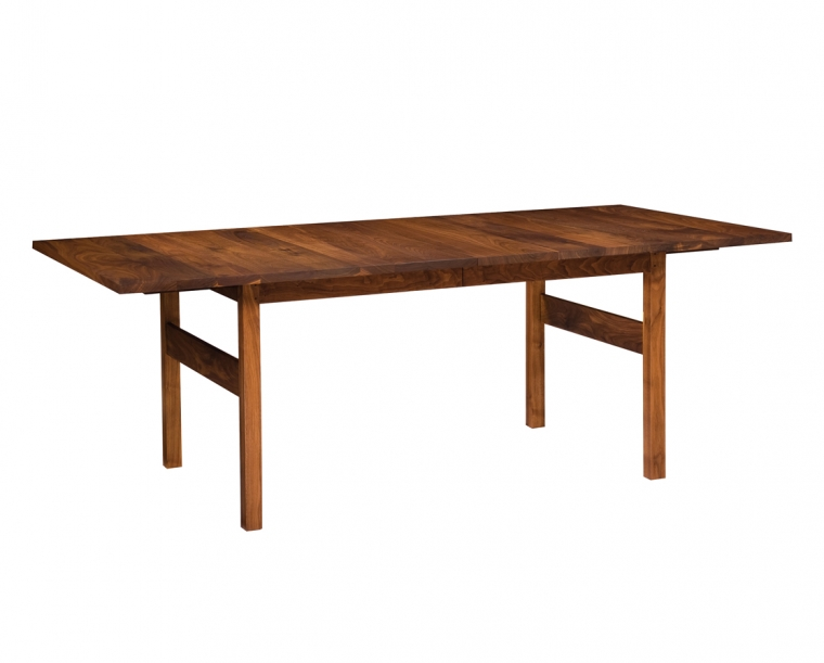 Celilo Extension Dining Table in Eastern Walnut with Two Leaves